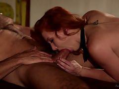 Alex tanner rides her mans hard cock