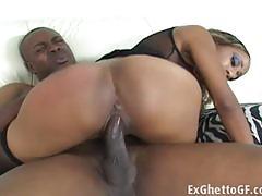 Ebony babe gets her pussy nailed