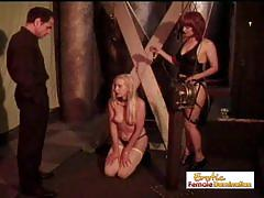 Kinky babe enjoys bdsm