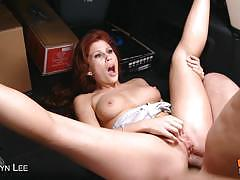 Redhead brooklyn lee gets her ass fucked