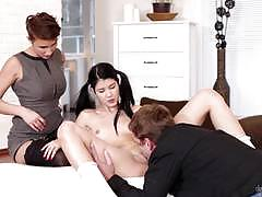 gabrielle gucci, lady dee, brunette, blowjob, riding, fucked, cumshot, dick, facial, back, cum, deep, pussy, lesbians, lesbian, face, doggy style, threesome, hard, eating out