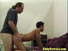 Rampant amateur gets her pussy nailed