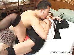 Japanese asian gets his pussy fingered