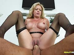 raquel sultra, blowjob, riding, facial, blonde, milf, cum, reverse cowgirl, stockings, leather, mom, cowgirl, boobs, mouth, mature, skinny, fake tits, tights, ride, cup