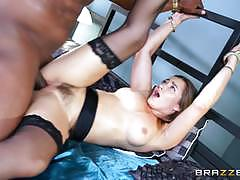 Dani daniels takes a black cocks delicious loa...