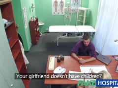 Fakehospital nurse sucks dick for sperm sample