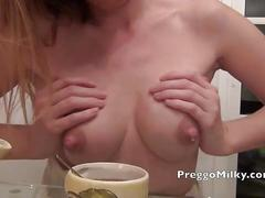 Breast milk squirting milf for the lactation fans