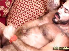 masturbation, bareback, bear, anal, cumshot, fucking, hardcore, hairy, muscle, tattoo