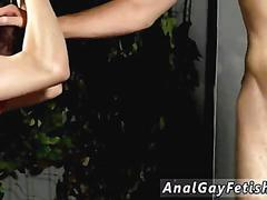 Chained twink spanked with a whip by his master