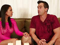 Exotic masseuse adriana luna drains dick