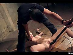 Bound angel piaff enjoys bdsm