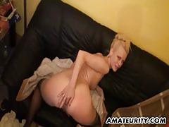 Amateur babe loves hard cock