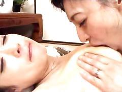 Japanese milf lesbian women together