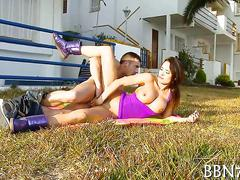 Sexy and wild outdoor oral sex video