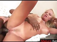 Busty old whore gets her face and pussy stuffed with a bbc