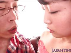 Tiny japanese sluts cunt licked