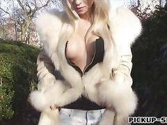 Booby blonde czech babe chloe lacourt banged for cash