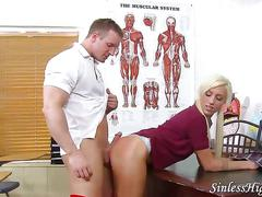 Schoolgirl punished by teacher sex