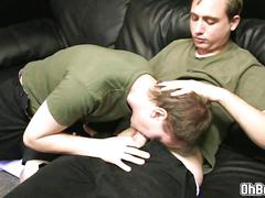 Caleb fuck tylers ass on leather couch