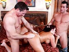 Mmf threeway fucking for big titted mackenzee...