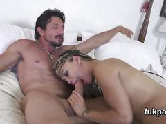 Sexy nymph cannot wait to ride erected dick