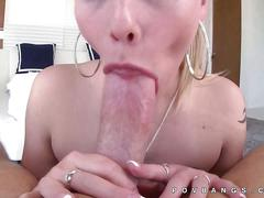 Dakota james opens wide for thick dick