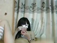 Huong hana with a mask on has a nice time wanking