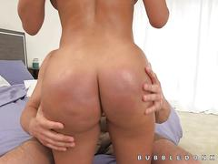 babe, brunette, hardcore, fucking, oil, riding, pussy licking