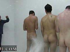 Hazed college boys soaped up and filmed showering