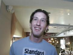 Dirty tall dude gets boned out in public on camera
