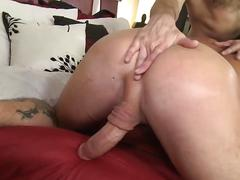 Hot horny guys fuck their brains out in bed