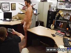 Bearded dude gets paid to jerk off in a pawn shop