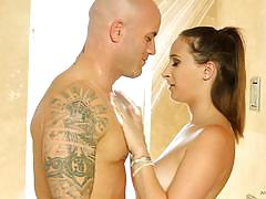 Ashley adams gives a nuru massage for cheating...