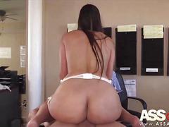 ass, hardcore, milf, latina, big cock, big tits, fucking, lingerie, office, pounding, pov