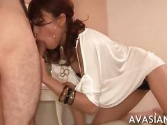 asian, blowjob, hairy, japanese, sucking, high heels, oral
