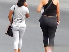 Hot ass latinas captured strutting around in public