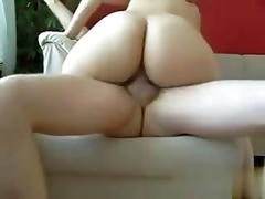 Silky ass amateur bounces her pussy on her horny boyfriends boner
