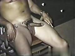 Hairy dudes suck dick and fuck in a vintage sex tape