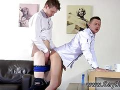 British gay boy bends over for a piece of meat