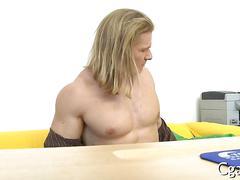 blowjob, hunk, muscle, anal, blonde, hardcore, casting, gay, long hair, posing, stud