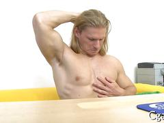 blowjob, hunk, muscle, anal, blonde, hardcore, casting, gay, long hair, posing, stud