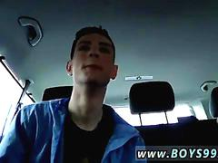 Dirty gay twink gets fucked in the backseat by british dudes