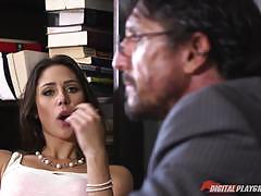 Banging the naughty student anna morna at her...