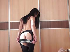 angelik duval, blowjob, doggystyle, cumshot, anal, french, european, euro, camera, pantyhose, pov, sucking