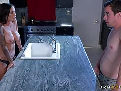 Brandy aniston gets to pleasure her daughters...