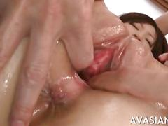 Very hairy asian cuttie incredible banged in all holes