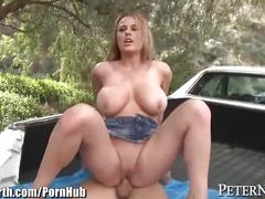 big tits, hardcore, public, milf, peternorth, busty, fake-tits, big-boobs, outside, big-tits, curvy, outdoors, titty-fuck, blowjob, reverse-cowgirl, doggystyle, shaved, pierced, riding, cumshot