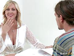 Big titted milf julia ann fucked by a horny te...