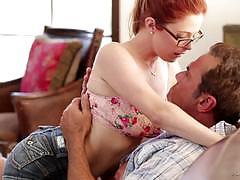 Fiery redhead marina visconti getting her puss...
