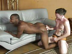 anal dildo, tattooed, gays, gay interracial, black and white, on couch, gay rimjob, ebony clubz, mac daddy, frank white